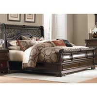 Gracewood Hollow Sulkuqi Brownstone Scrolled Sleighbed