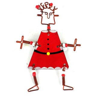 Dancing Girl Santa Pin (Kenya)