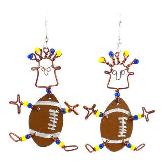 Dancing Girl American Football Earrings (Kenya)