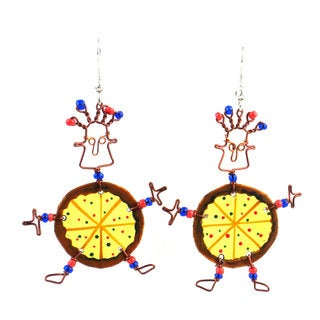 Dancing Girl Pizza Earrings (Kenya)