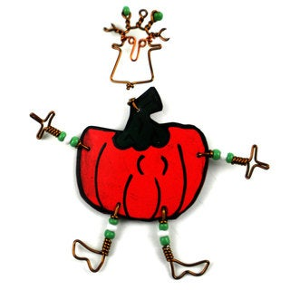 Dancing Girl Pumpkin Pin (Kenya)