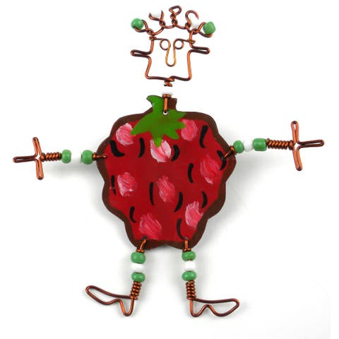 Handmade Dancing Girl Berry Pin (Kenya)