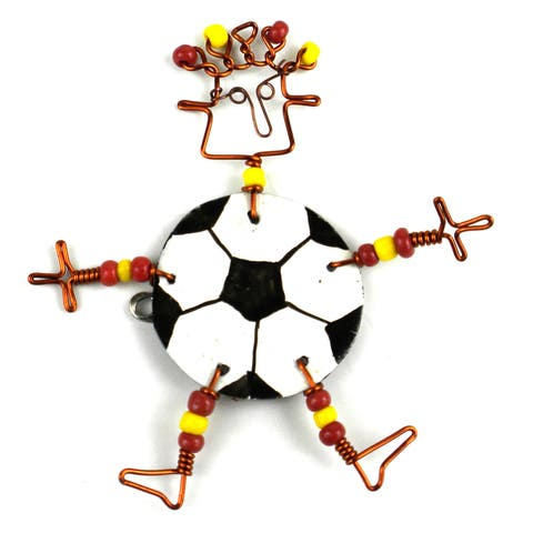 Handmade Dancing Girl Soccer Pin (Kenya)