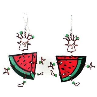 Dancing Girl Melon Slice Earrings (Kenya)