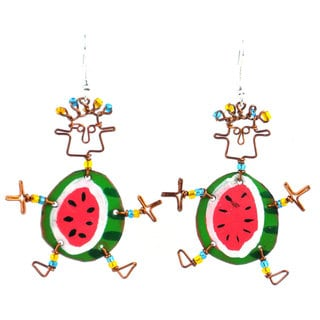 Dancing Girl Round Melon Earrings (Kenya)