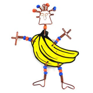 Dancing Girl Go Bananas Pin (Kenya)