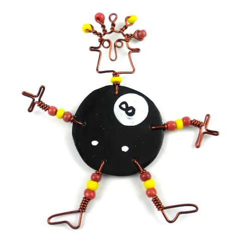 Handmade Dancing Girl Eight Ball Pin (Kenya)