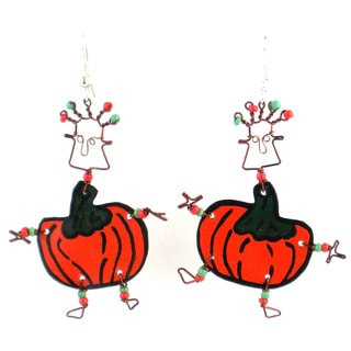 Dancing Girl Pumpkin Earrings (Kenya)
