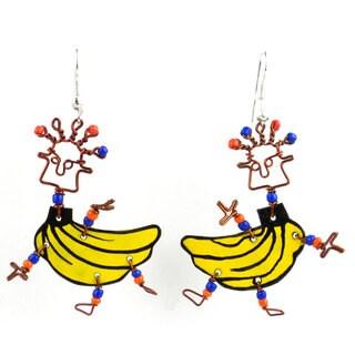 Dancing Girl Go Bananas Earrings (Kenya)