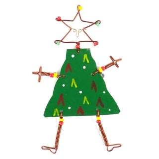 Handmade Dancing Girl Christmas Tree Pin (Kenya)