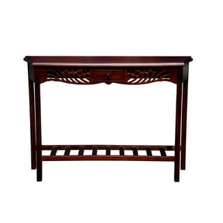 Winston Mahogany Wood Console Table (Indonesia)