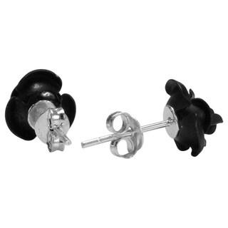 Blooming Rose .925 Sterling Silver Stud Earrings (Thailand)