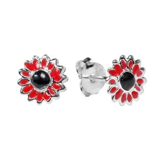 Handmade Petite Sunflower .925 Silver Stud Earrings (Thailand) (3 options available)