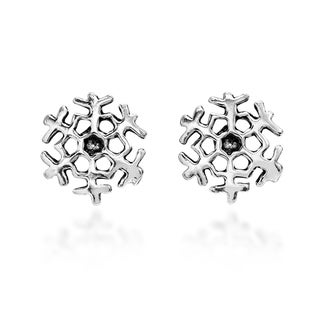 Petite Holiday Snowflake .925 Silver Stud Earrings (Thailand)