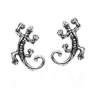 Petite Gecko Lizard .925 Silver Stud Earrings (Thailand)