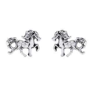 Dainty Prancing Horse Stud .925 Silver Earrings (Thailand )
