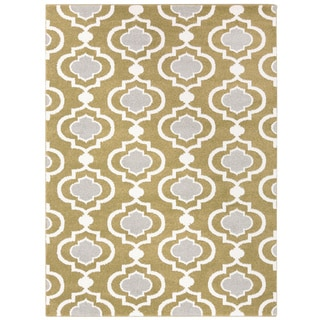 Vallejo Transitional Geometric Area Rug (93 x 126 - Green)