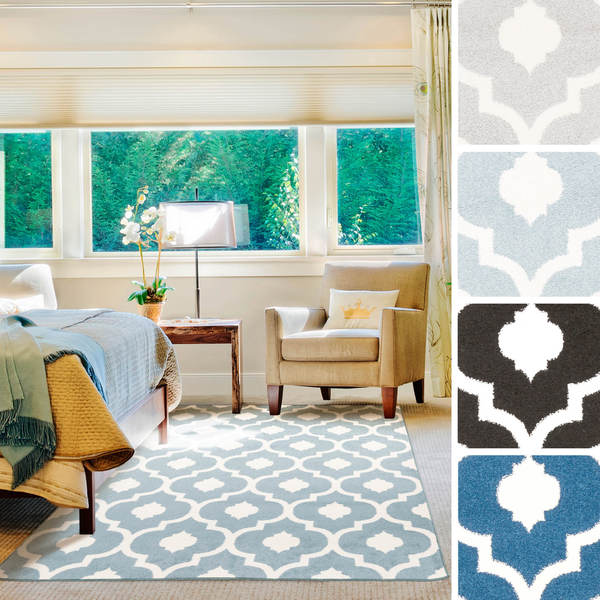 Best Of The Week 9 Instagrammable Living Rooms: Shop Hudson Contemporary Trellis Area Rug