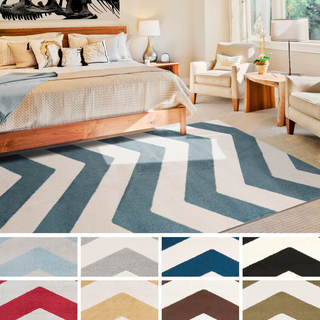 "Meticulously Woven Kandy Modern Geometric Area Rug (6'7"" x 9'6"")"