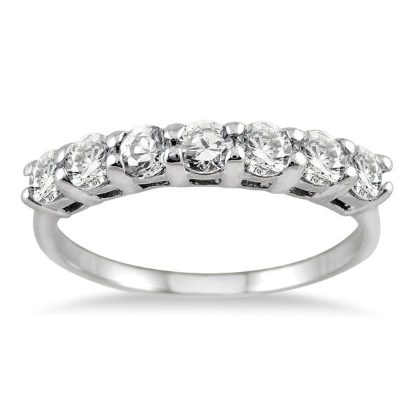 Marquee Jewels 14k White Gold 1ct TDW Diamond Band
