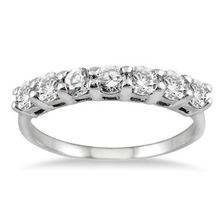 Marquee Jewels 14k White Gold 1ct TDW Diamond Band (I-J, I1-I2)
