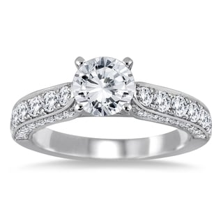 Marquee Jewels 14k White Gold 1 7/8ct TDW Diamond Engagement Ring (I-J, I2-I3)