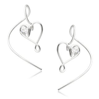 Journee Collection Sterling Silver Cubic Zirconia Handcrafted Earrings