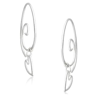 Journee Collection Sterling Silver Handcrafted Earpin Earrings