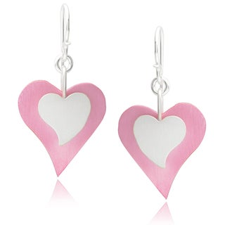 Journee Collection Sterling Silver Handcrafted Heart Earrings