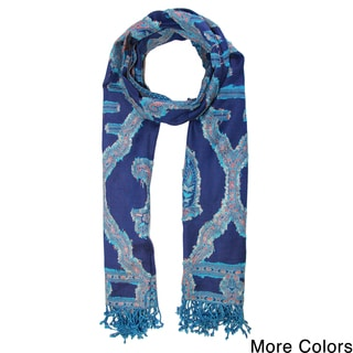 Saachi Women's Woven Cutout Paisley Scarf (India)
