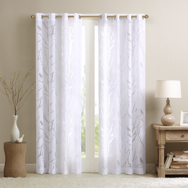 Shop Madison Park Vina Sheer Bird Single Curtain Panel