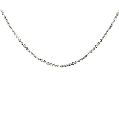 Mondevio Silvertone or Goldtone Rolo Chain Necklace