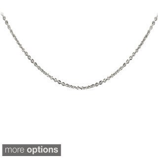 Mondevio Silvertone or Goldtone Rolo Chain Necklace
