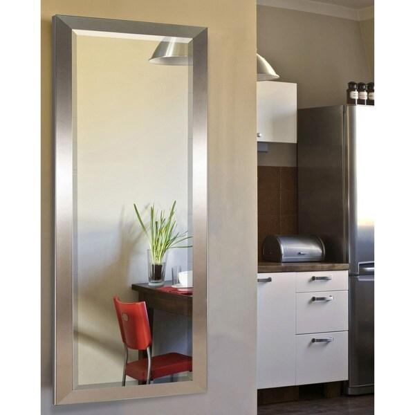 American Made Rayne Silver Petite 24.5 x 62.5-inch Full Body Mirror - 24.5 x 62.5