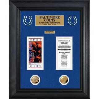 NFL Baltimore Colts Super Bowl Ticket and Game Coin Collection Framed