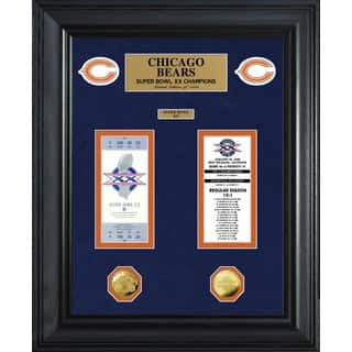 NFL Chicago Bears Super Bowl Ticket and Game Coin Collection Framed|https://ak1.ostkcdn.com/images/products/9440121/P16625443.jpg?impolicy=medium