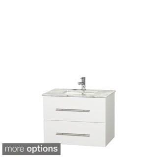 Wyndham Collection Centra 30-inch Single Bathroom Vanity in White, No Mirror