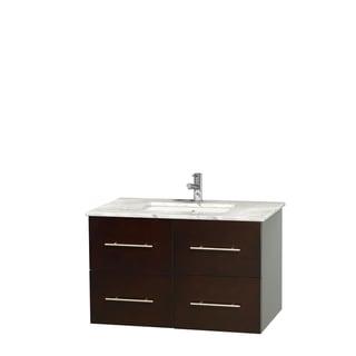 Wyndham Collection Centra 36-inch Single Bathroom Vanity in Espresso, No Mirror