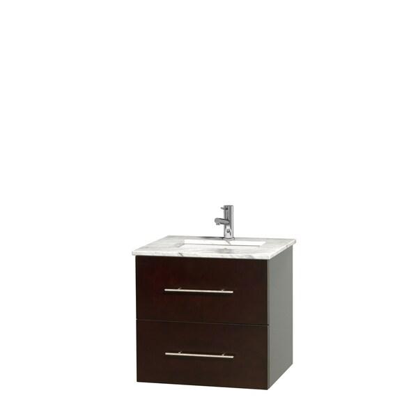Wyndham Collection Centra 24-inch Single Bathroom Vanity in Espresso, No Mirror