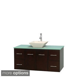 Wyndham Collection Centra Espresso 48-inch Single Green Glass Bathroom Vanity (2 options available)