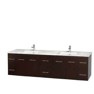 Wyndham Collection Centra 80-inch Double Bathroom Vanity in Espresso, No Mirror