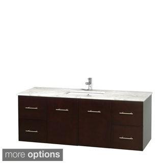 Wyndham Collection Centra 60-inch Single Bathroom Vanity in Espresso, No Mirror