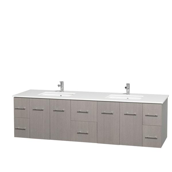 Shop Wyndham Collection Centra 80 Inch Double Bathroom Vanity In Grey Oak No Mirror Free