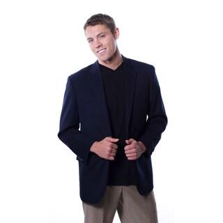 Cianni Cellini Men's Navy Wool Gabardine Blazer