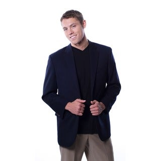 Cianni Cellini Men's Navy Wool Gabardine Blazer