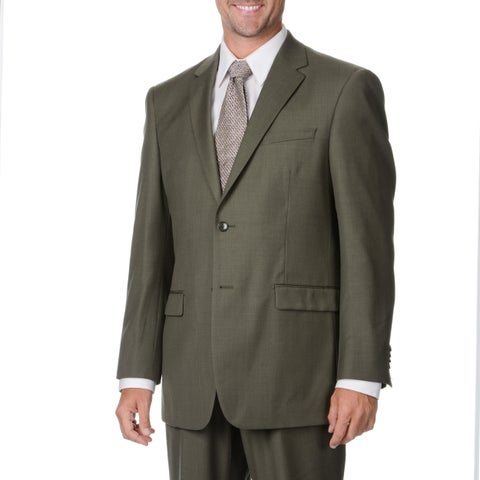 Protomoda Europa Men's 'Super 140' Olive Wool Suit