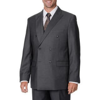 Caravelli Italy Men's Grey Double Breasted Suit (Option: Grey)|https://ak1.ostkcdn.com/images/products/9441300/P16626714.jpg?impolicy=medium