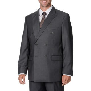 Caravelli Italy Men's Grey Double-breasted Suit