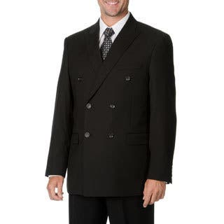 Caravelli Italy Men's Black Double Breasted Suit|https://ak1.ostkcdn.com/images/products/9441301/P16626715.jpg?impolicy=medium