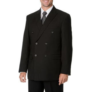 Men's Caravelli Italy Black Double-breasted Suit